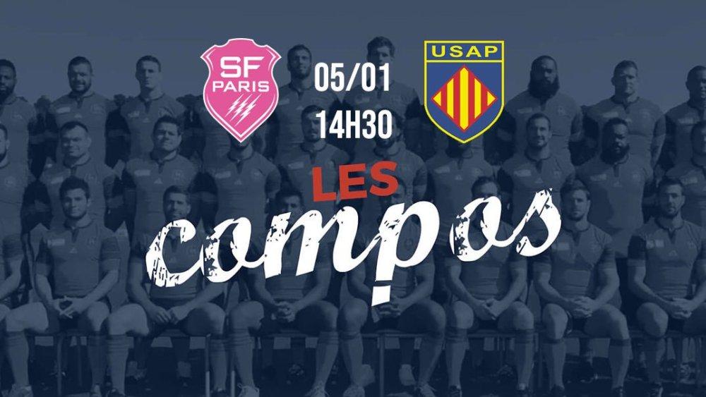 les équipes stade français vs perpignan rugby france xv de départ 15