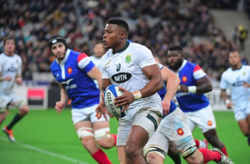 springboks dyantyi forfait pour le début du 4 nations rugby international xv de départ 15