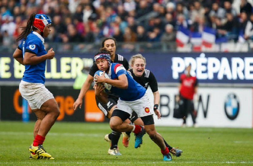 Super Series bleues maëlle filopon rapatriée rugby france xv de départ 15