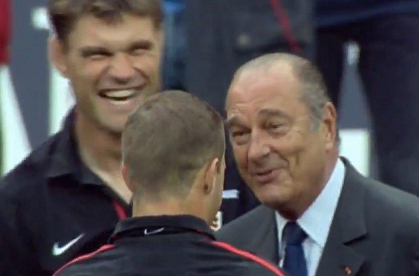 vidéo quand jacques chirac prédisait un grand avenir à Fred michalak rugby france xv de départ 15