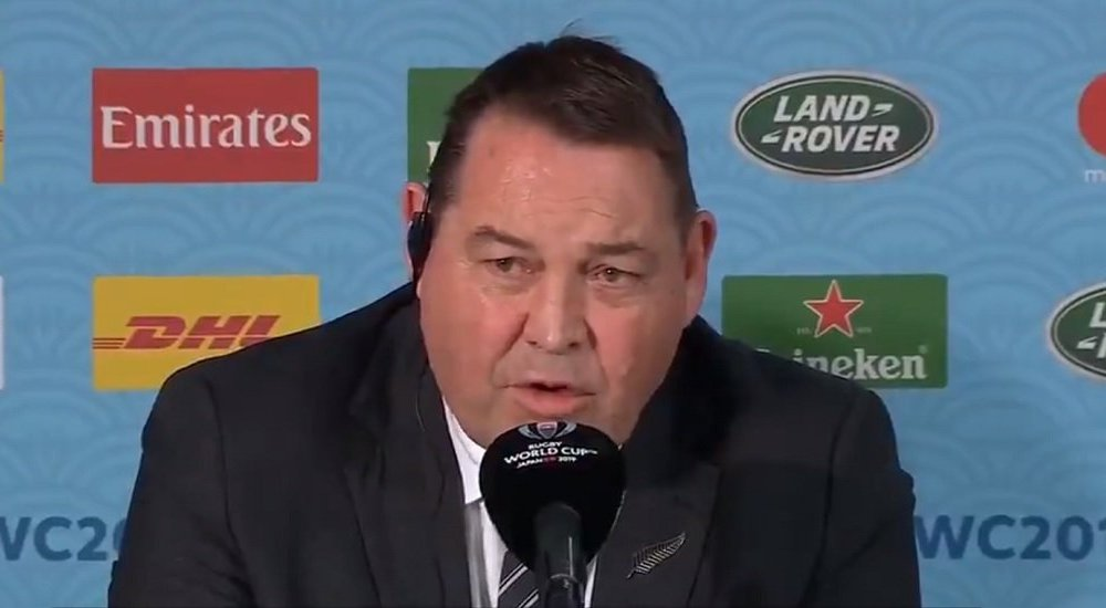 all blacks steve hansen recadre un journaliste rugby coupe du monde xv de départ 15