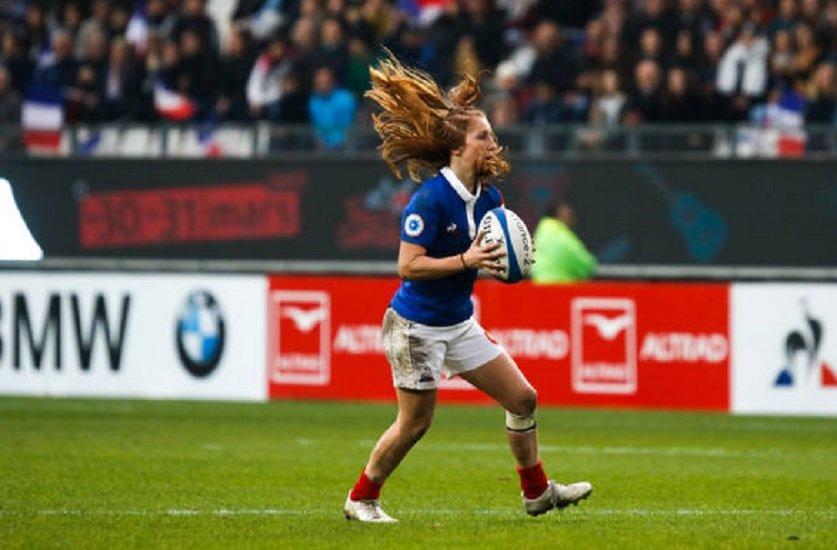 nuit du rugby pauline bourdon élue meilleure joueuse internationale rugby france xv de départ 15
