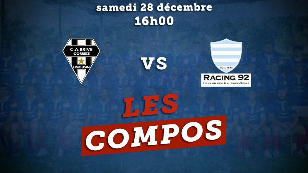 les formations brive vs racing 92 rugby france xv de départ 15