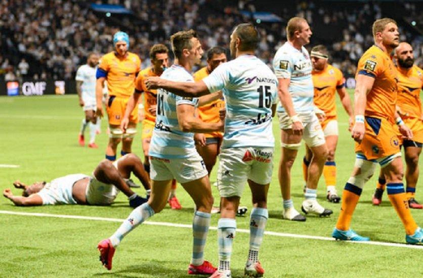 montpellier coule au racing 92 pau enchaine rugby france top 14 xv de départ 15