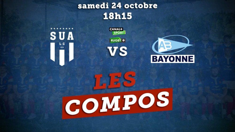 top 14 les compos agen vs bayonne rugby france xv de départ 15