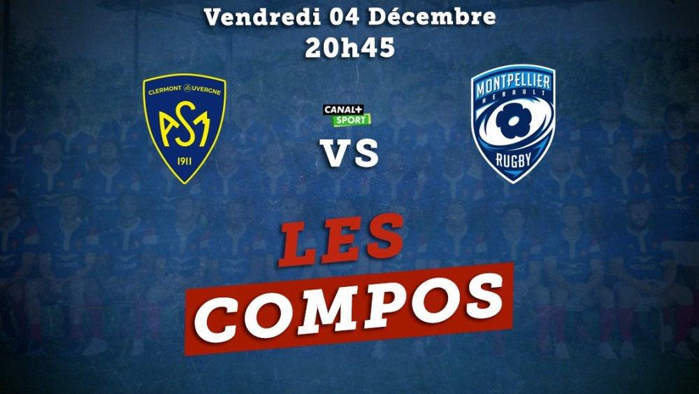 top 14 compos clermont vs montpellier rugby france xv de départ 15