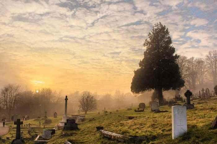 The Storyteller in the Graveyard - A Poem