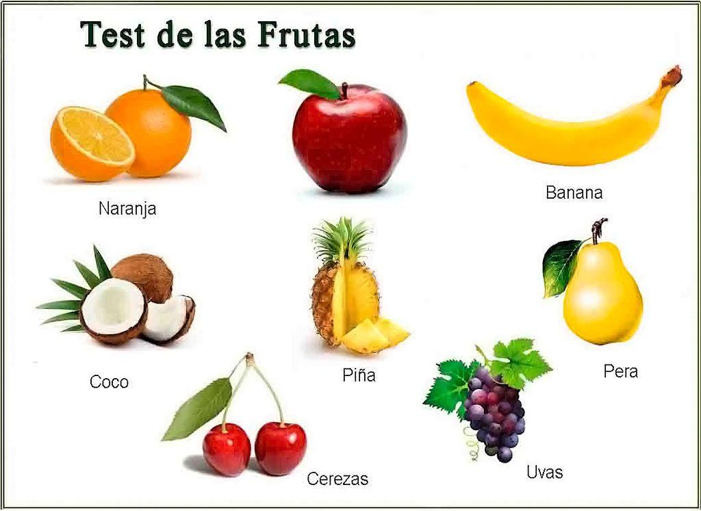Test de las Frutas