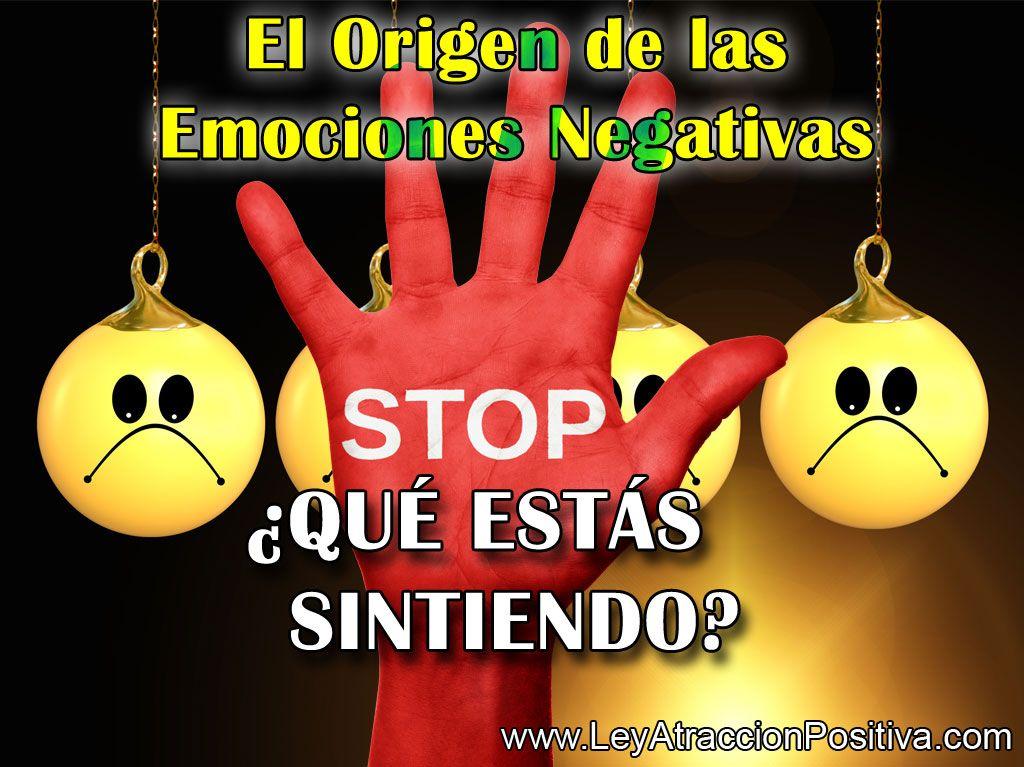 El Origen de las Emociones Negativas