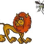 El León y el mosquito volador