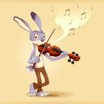 La liebre y el violín  (Fábula)