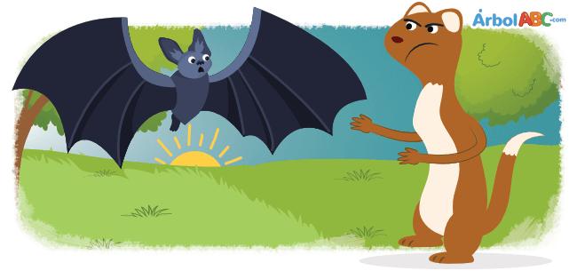 El murciélago y las comadrejas