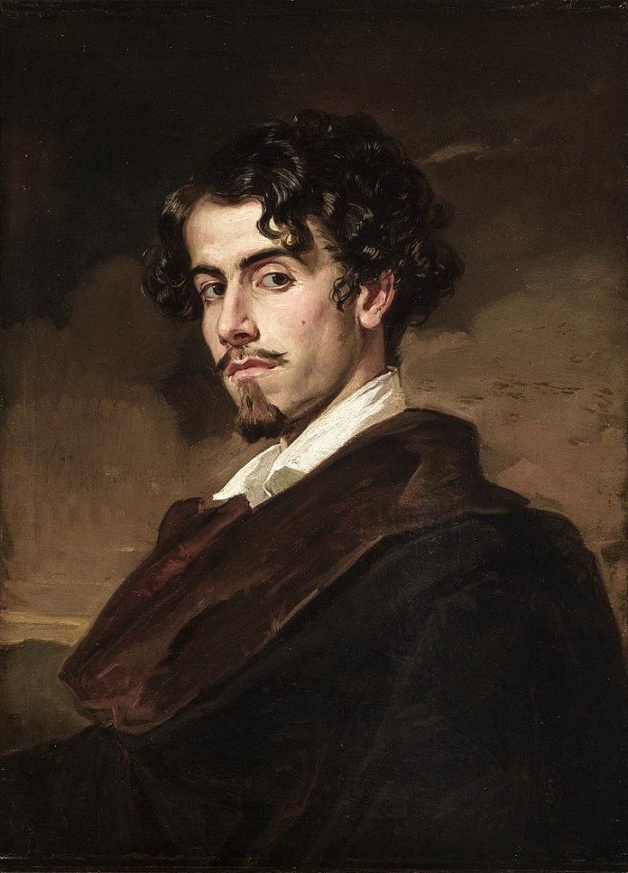 Retrato de Gustavo Adolfo Bécquer por su hermano Valeriano. Fuente: Wikipedia.