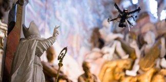 Dron en la Catedral de Toledo