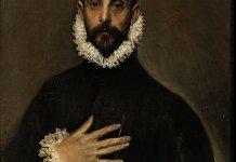 El caballero de la mano en el pecho por El Greco