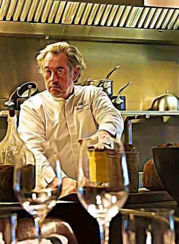 Chef de Table, Bruno Verjus s'adonne, 18 heures par jour, à régaler ses clients. Aux antipodes des chefs de la télé : voici la réalité d'une vie de restaurateur.