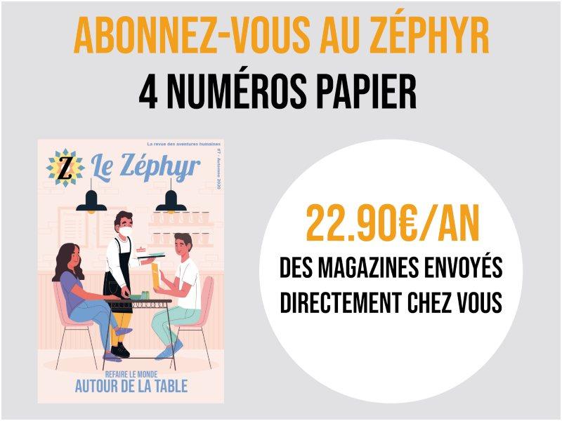 Publicité du numéro Cuisine de la revue du Zéphyr