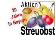 "Logo ""20 Jahre Aktion Streuobst in Bayern"""