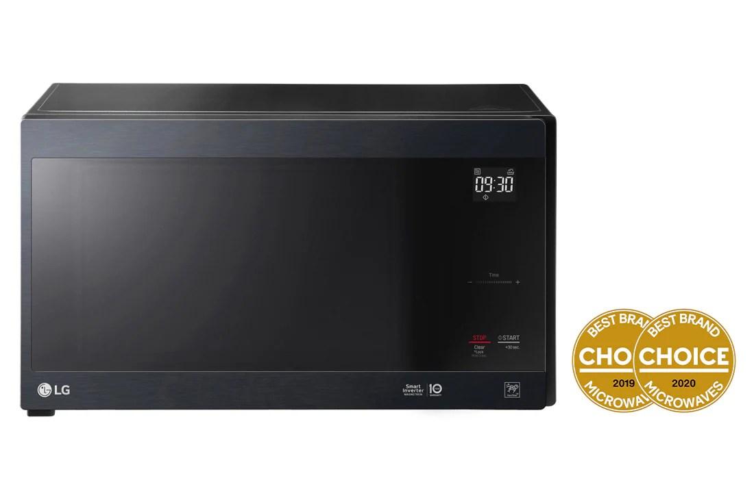 neochef 42l smart inverter microwave oven in matte black finish