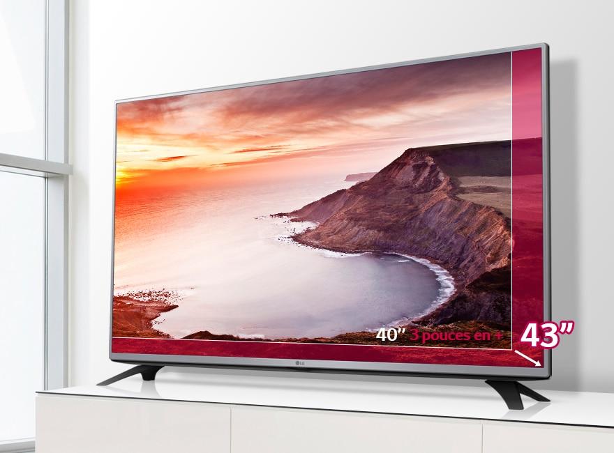 Découvrez le plaisir d'un écran plus grand !