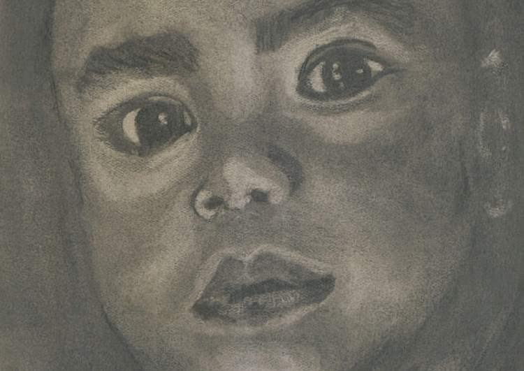 """© Laura Gabel, """"CharBoy"""". Charcoal, 8 x 10. Private collection."""
