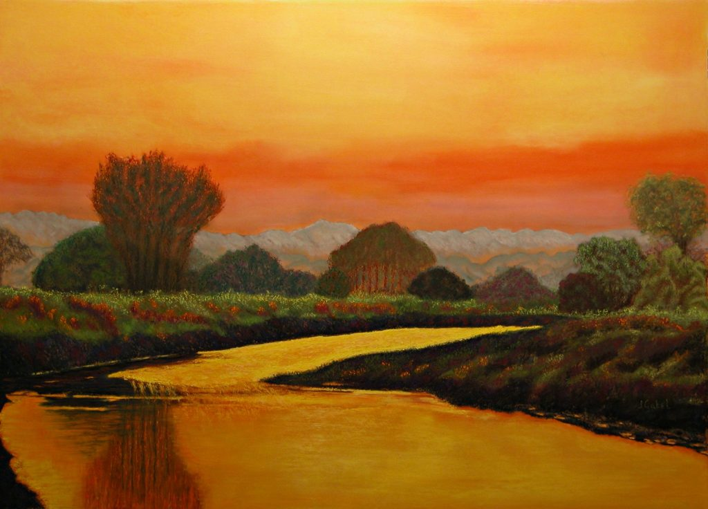 """© Laura Gabel, """"Alan's Peaceful Place"""". Soft pastel, 36 x 48. Private collection."""