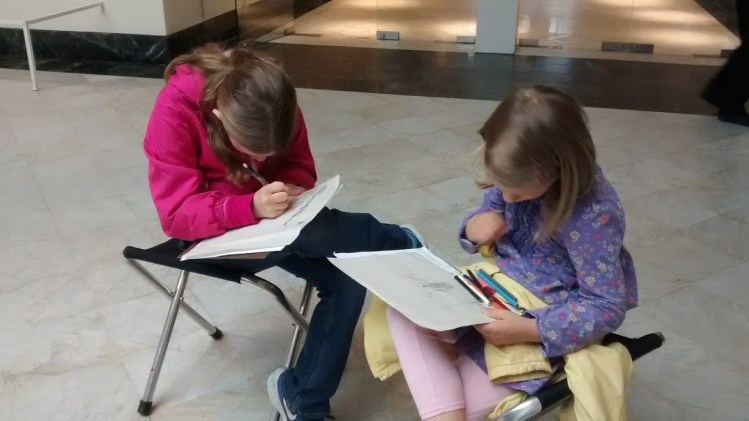 what is the point of art? Orlando Museum of Art sketching in the gallery