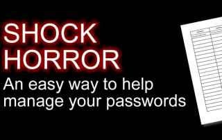 manage passwords using a table
