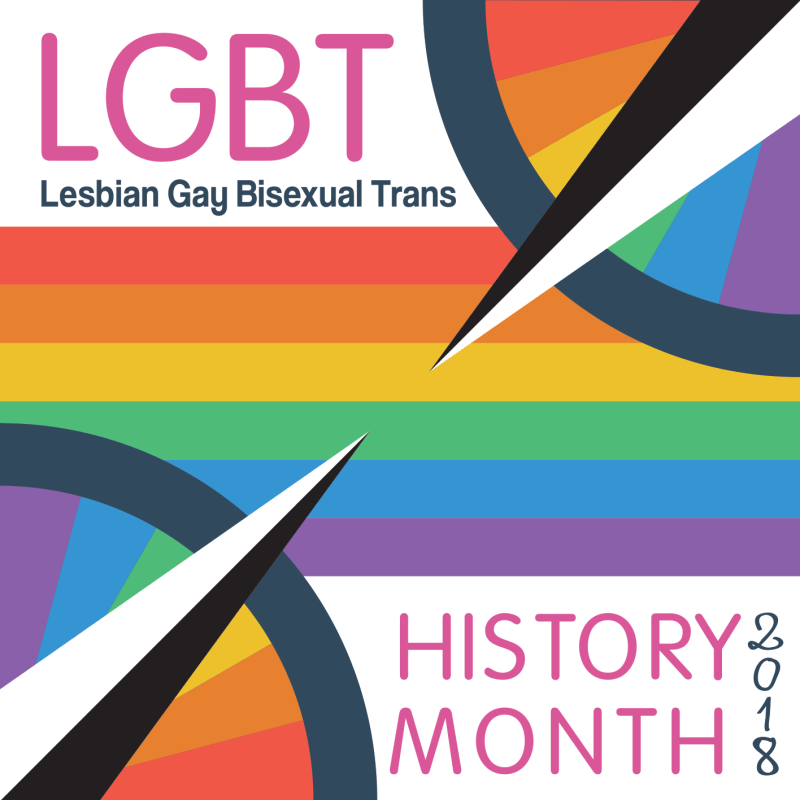 Image result for lgbt history month 2018 graphic