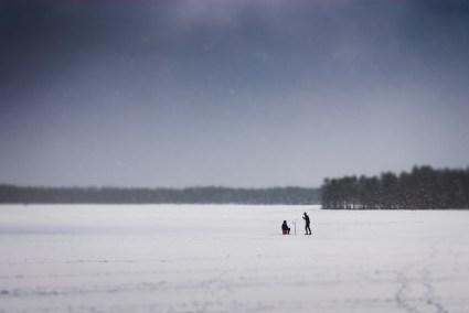 Vinter på Nydalasjön Fotograf Lars-Göran Norlin