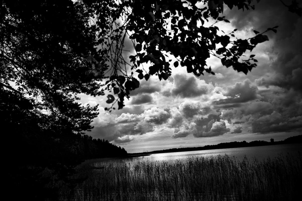Landskap med moln, Fotograf Lars-Göran Norlin