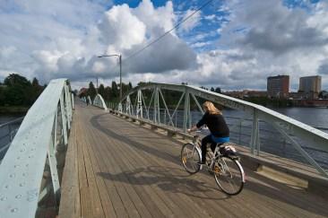 Cykelbro, Umeå. Fotograf Lars-Göran Norlin