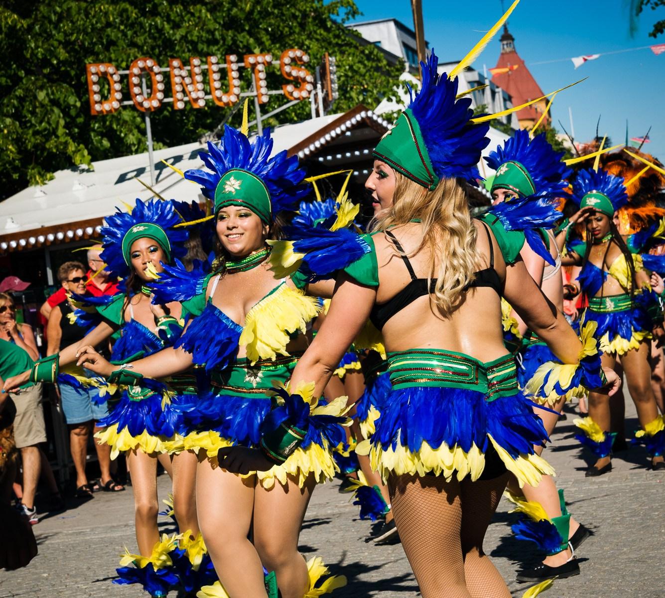 Samba med Latin World Rhythm, Storgatan, Luleå, 11 juli 2014.