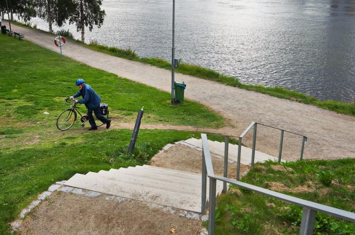 Vid Strandpromenaden, Umeå. Fotograf Lars-Göran Norlin