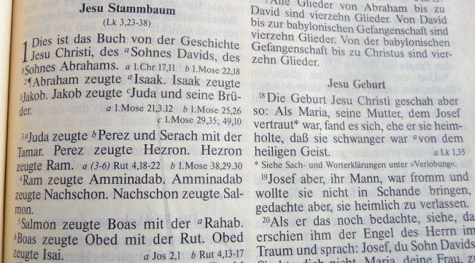 Stammbaum von Jesus im Matthäus-Evangelium