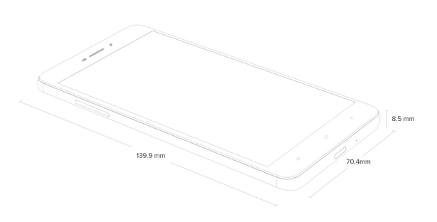 Dimensi Xiaomi Redmi 4A