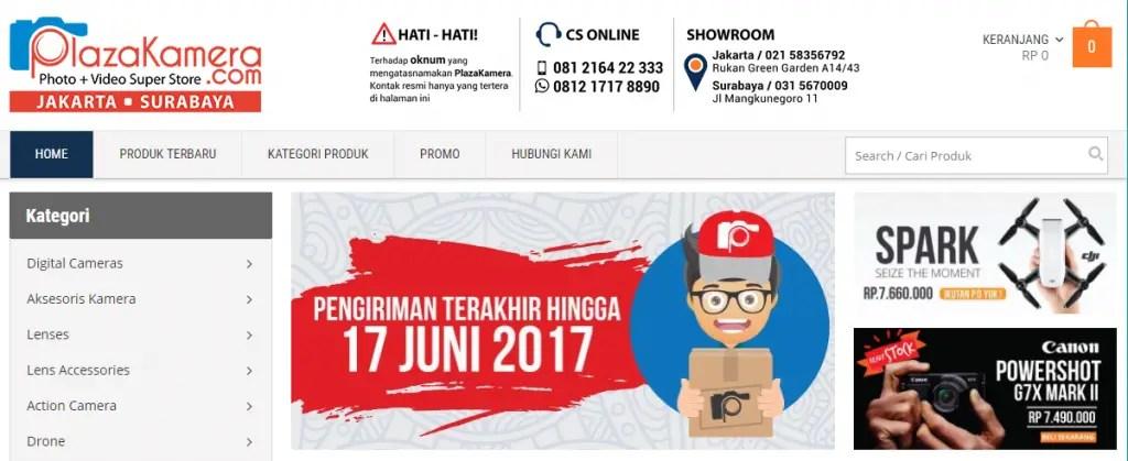 Toko Kamera Online Surabaya Jakarta Indonesia