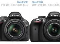 Nikon D3300 vs D5200