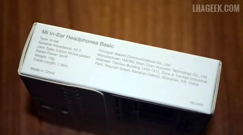 Earphone Xiaomi Mi Piston - Unboxing