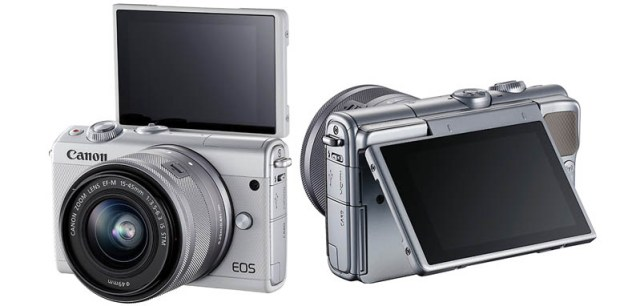Canon EOS M100_layar