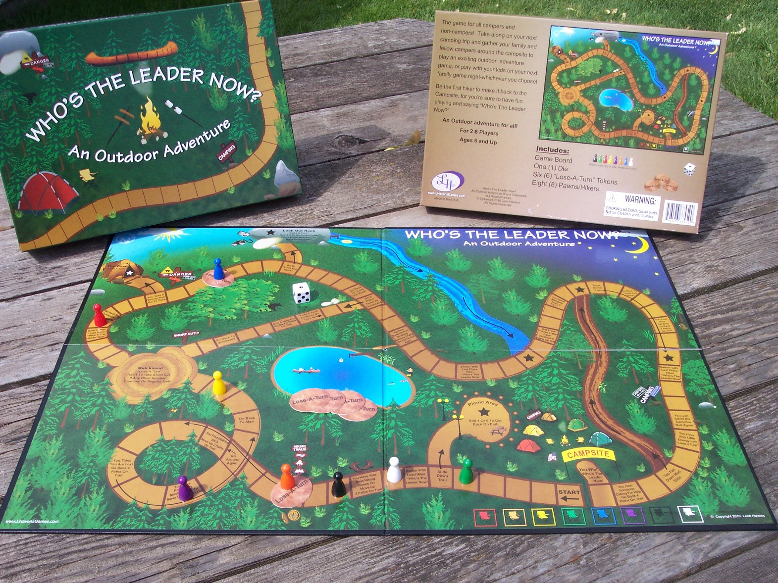 About Us  who s the leader now  board game  camping games  hiking     full game