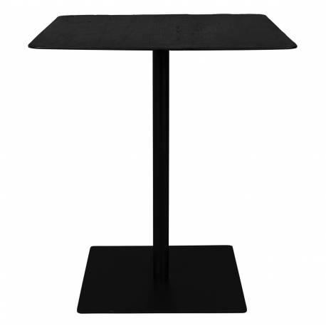 mange debout braza dutchbone table haute bar design industriel vintage en acier et bois noir 70x70x93cm