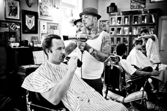 Barbier hipster