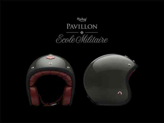 Casque moto Ruby militaire