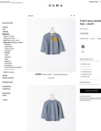 Zara tee-shirt étoile jaune
