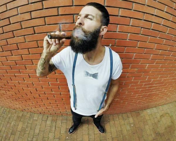 Flavien Mure, mannequin barbe