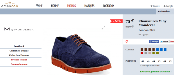 Ambazad.fr, un site de vente en ligne de chaussures mode, pour homme.