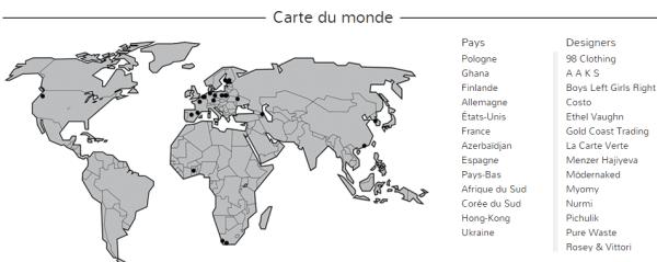 Carte du monde: D'où viennent les produits présents sur Apparachic.com ?
