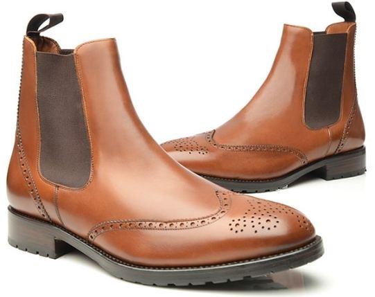 Chelsea Boots cousus Goodyear en marron