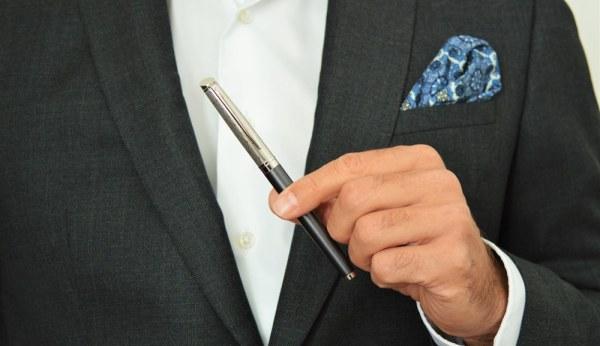 Stylo plume comme un accessoire de mode pour homme